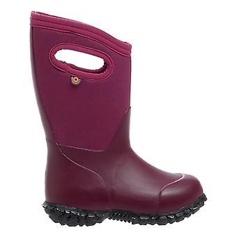 Bogs Girls York Solid Boots Plum