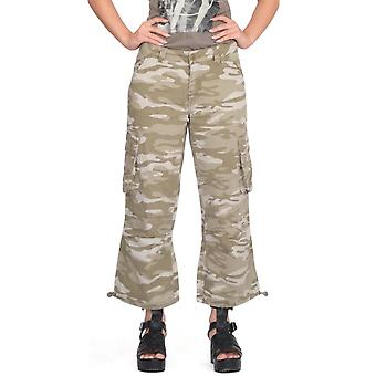 Wide Leg Camouflage Long Cargo Shorts
