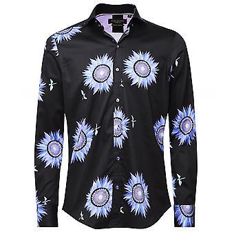 Guide London Slim Fit Sunflower Shirt