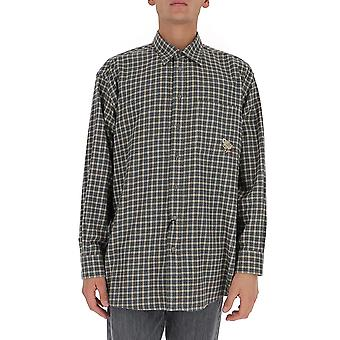 Gucci 628325zafkn9042 Men's Green Cotton Shirt