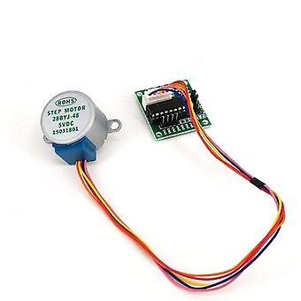 1set de 28byj-48 5v 4 Phase Dc Gear Stepper Motor Avec Uln2003 Driver Board