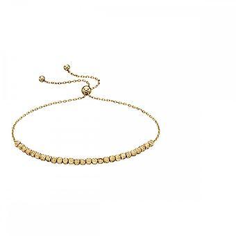 Элементы Золото Желтое золото Бриллиантовая огранка Бусина Регулируемый браслет GB441