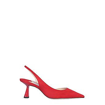 Jimmy Choo Fettosuered Women's Red Leather Sandals