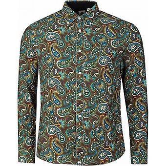 Pretty Green Marsham Paisley Cord Shirt