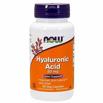 Nu Foods hyaluronsyre med MSM, 50 mg, 60 Veg Caps