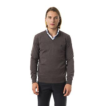 Uominitaliani Noce Extrafine Wool Grey Sweater