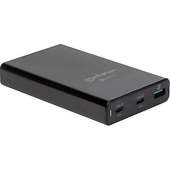 Manhattan 102223 USB charging station Mains socket Max. output current 3 A 3 x USB 3.2 1st Gen port A (USB 3.0), USB-C™ socket (Power Delivery) Qualcomm Quick
