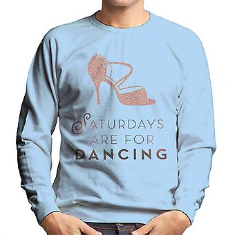 Strictly Come Dancing Saturdays Are For Dancing Glitter Stiletto Men's Sweatshirt