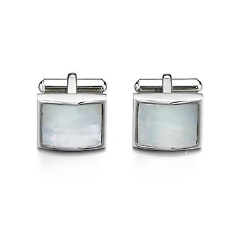 Fred Bennett Acier inoxydable White Mother of Pearl Cufflink