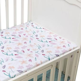 Microfabric Crib-fitted Soft-cover Protector And Elastic-bed Cartoon-sheet