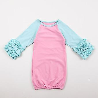 Baby Sleeping Bag, Raglan Ruffle Sleeve Sack Cotton Baby Clothes