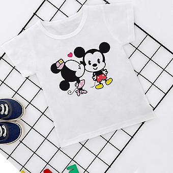 Cartoon Story, Mouse, Joker, Kawaii Print Casual T-shirt