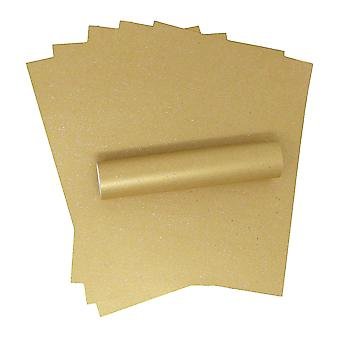 10 Sheets of A4 Iridescent Sparkle Paper Harvest Gold 120gsm