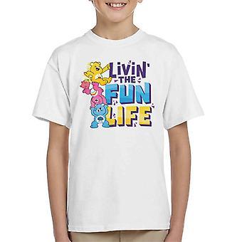 Pflege Bären entsperren die Magie Livin das Spaß Leben Kid's T-Shirt