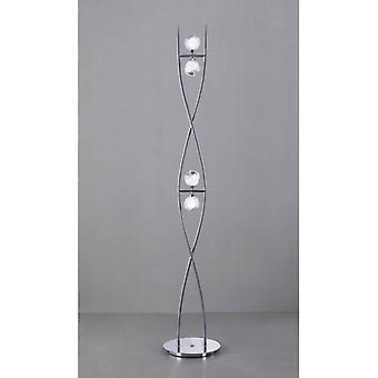 Fragma Vloerlamp 4 Bollen G9, Gepolijst chroom