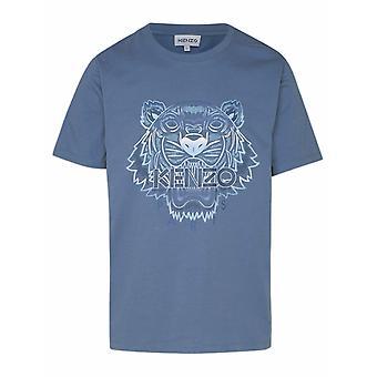 Kenzo Fb55ts0264yg67 Men's Light Blue Cotton T-shirt