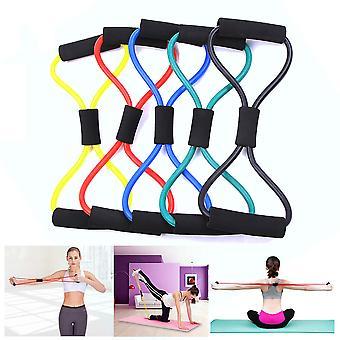 8 Palabra Fitness Cuerda Resistencia Bandas de Goma para Fitness Elastic Band Fitness Equipment Expander Workout Gym Exercise Train