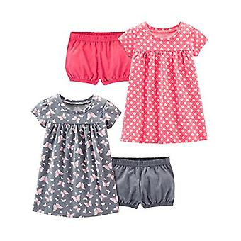 Simple Joys by Carter's Girls' 2-Pack Short-Sleeve and Sleeveless Dress Sets,...