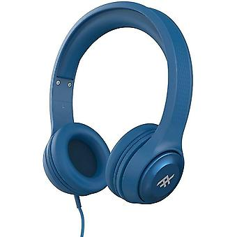 iFrogz Headphones with Mic Noise Isolating On-Ear Controls Aurora Wired - Blue