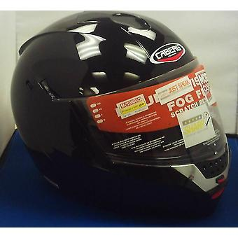 Caberg Justissimo GT Helmet Gloss Black Integrated Sun Visor ACU Approved