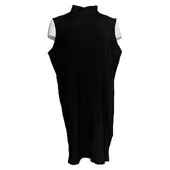 Joan Rivers Classics Collection Petite Dress Mock Neck Black A303401