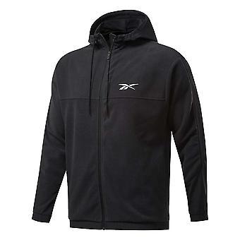 Reebok Workout Ready Fleece Full Zip Hoodie FS8450 universella hela året män sweatshirts