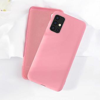 HATOLY Samsung Galaxy A31 Funda de silicona - Funda de líquido de caja mate suave rosa