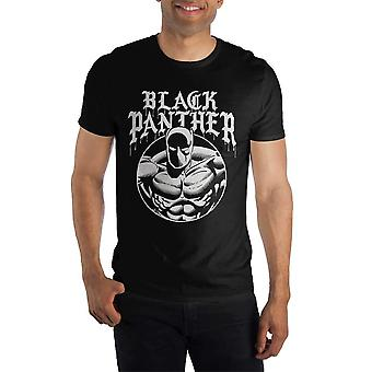Marvel comics black panther men's black t-shirt tee shirt