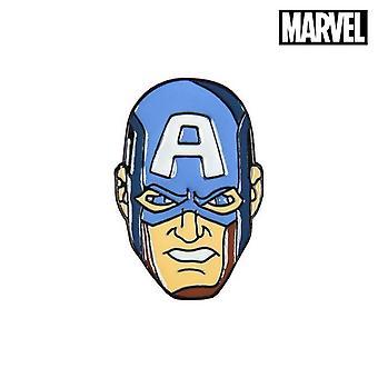 Pin Kaptein Amerika Avengers Metal Blå
