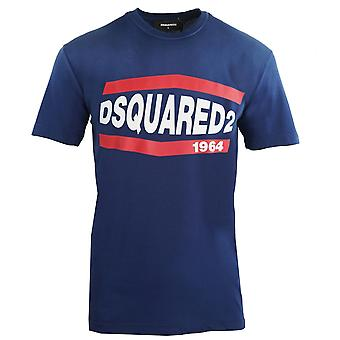 Dsquared2 1964 Cool Fit Camiseta azul descolorida