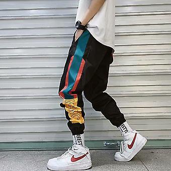 Hip Hop Streetwear Joggers Pants, Men Casual Cargo Pant, Trousers Elastic Waist