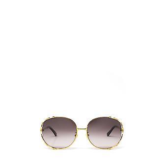 Gucci GG0595S złote żeńskie okulary przeciwsłoneczne