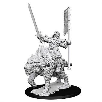 Pathfinder A Deep Cuts Unpainted Mins Orc on Dire Wolf (Pack of 6)