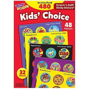 Kids' Choice Stinky Stickers Variety Pack, 480 Ct