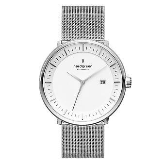 Nordgreen Unisex Philosopher Mesh Silver 36mm Watch PH36SIMESIXX