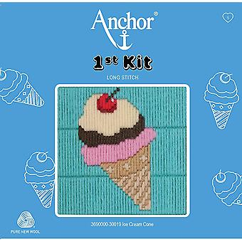 Anchor Long Stitch Kit: 1st Kit: Ice Cream Cone