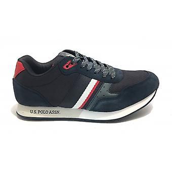 Sneaker Running Us Polo Mod. Julius In Suede/ Dark Blue Fabric Men U20up09