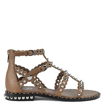 Ash PIXEL Cage Sandals Chocolate Brown Leather