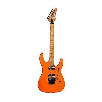 Dean md24 floyd electric guitar, roasted maple neck, vintage orange