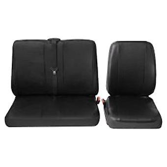 Universal Van Einzelsitz und Doppel Lederette Eco-Leather Sitzbezug einfach zu reinigen