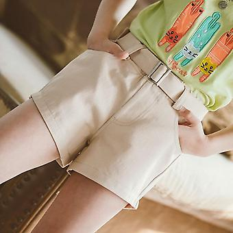 Teenage Cotton Shorts With Belt