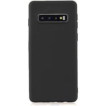 HaiFei Samsung Galaxy S10 Hlle Case+ 1 x Panzerglas Schutzfolie. Silikon Schutzhlle