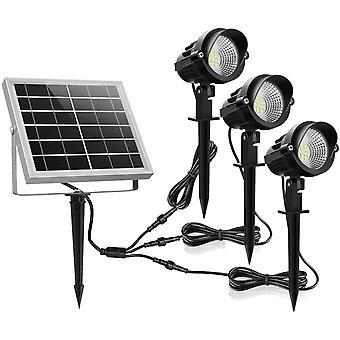Gerui Solar Garden Lights, 3 in 1 Landscape Lighting, IP66 Waterproof Solar Outdoor Lights