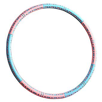 6 Knots Collapsible Hula Hoop 90cm weighted Fitness Exercise Hoola for Adult