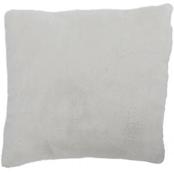 zierkissen 36 x 10 x 36 cm Polyester weiß