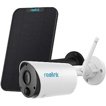 HanFei berwachungskamera Argus Eco + Solarpanel, 1080p WLAN IP Kamera Aussen mit Akku, SD Kartenslot,