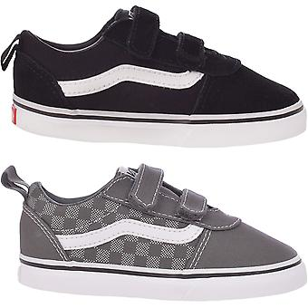 Vans Kids Ward V Low Rise Canvas Checkerboard Trainers Sneakers Shoes