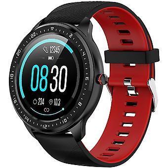 Smartwatch with waterproof ip68 heart rate monitor for iphone huawei samsung xiaomi sony-red