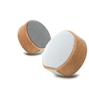Mini Wood Bluetooth Speaker Portable Outdoor Wireless Support AUX TF