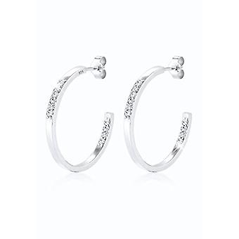 Elli Women's Pearl Earrings in Silver 925 with White Crystal 2021